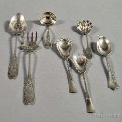 Seven Pieces of Assorted Silver Flatware
