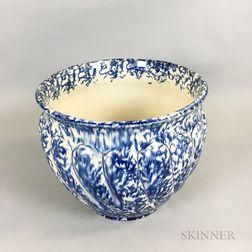 Spongeware Ceramic Lobed Jardiniere