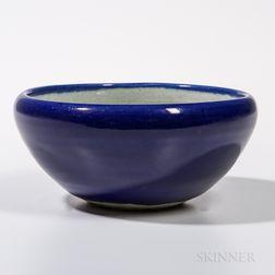 Blue-glazed Alms Bowl