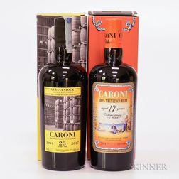 Mixed Caroni, 2 70cl bottles (oc)
