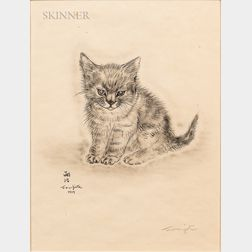 Léonard Tsuguharu Foujita (French/Japanese, 1886-1968)      Five Plates from Book of Cats