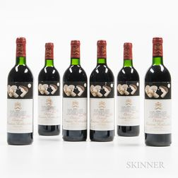 Chateau Mouton Rothschild 1986, 6 bottles