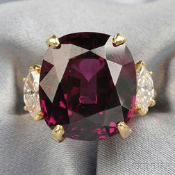 18kt Gold, Garnet, and Diamond Ring, Van Cleef & Arpels