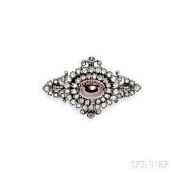 Garnet and Diamond Brooch