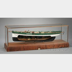 Cased Painted Model of the Lowestoft Sailing Trawler MASTER HAND