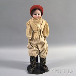 Bisque Shoulder Head Boy Doll