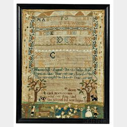 "Needlework Sampler ""Sally Ayer,"""