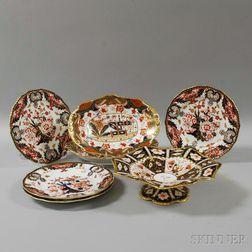 Seven Pieces of Imari Palette Porcelain