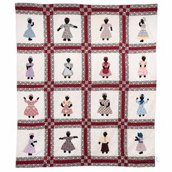 Applique Black Woman Quilt