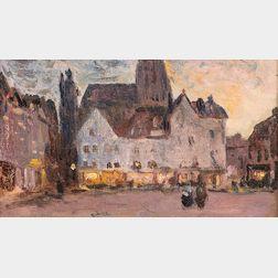 Colin Campbell Cooper (American, 1856-1937)      European Plaza