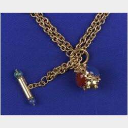 18kt Gold Watch Chain and Fob