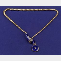 Antique Enamel and Diamond Necklace