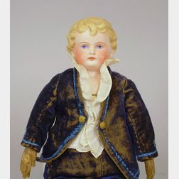 Parian Bisque Shoulder Head Boy Doll