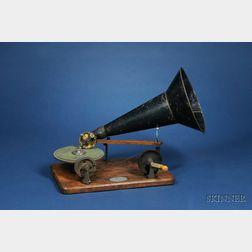 Rare Hand-Cranked Berliner Gramophone