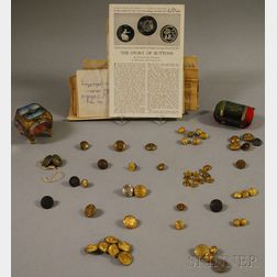 Approximately Fifty-seven Mostly U.S. Military and Uniform Buttons and Two 1904   St. Louis Exposition Souvenirs
