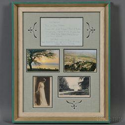 Five Framed Items Related to Princess Tatiana Constantinovna
