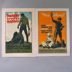 Three U.S. WWI Lithograph Posters
