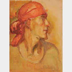 Elba Louisa Riffle (American, 1905-1980)      Portrait of Ted Shawn
