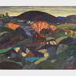 Leighton R. Cram (American, 1895-1981)      Landscape Patterns, Rockport
