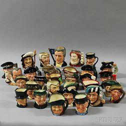 Thirty Royal Doulton Character Jugs