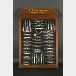 Exhibition Display of Folding Pocket Knives by A. Burkinshaw