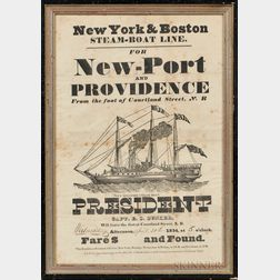 """Printed Broadside """"New-Port and PROVIDENCE,"""""""