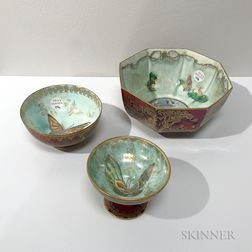 Three Wedgwood Fairyland Lustre Bowls