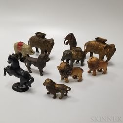 Ten Cast Iron Animal Still Banks