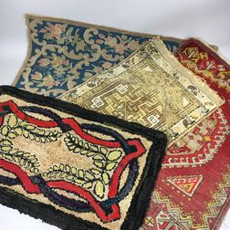 Four Small Mats and Rugs.