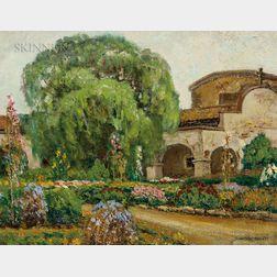 Arthur Hill Gilbert (American, 1894-1970)      Capistrano Mission and Gardens