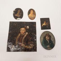 Five Continental School Portraits