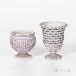 Two Wedgwood Tricolor Jasper Vases