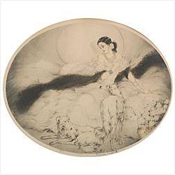 Louis Icart (French, 1888-1950)  La Dame aux Camelias