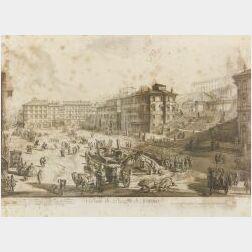 Giovanni Battista Piranesi (Italian, 1720-1778)  Veduta di Piazza di Spagna