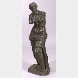 Large Bronze Figure of Venus di Milo