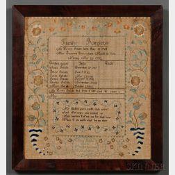 Needlework Family Register