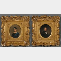American School, 19th Century      Portraits of Prominent Bostonians Nathaniel Thayer and Pauline (Revere) Thayer.