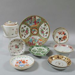 Ten Pieces of Export Porcelain Tableware