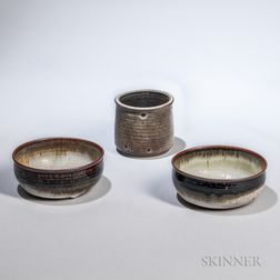 Benedictine Monk's Tea Bowl and Two Bowls