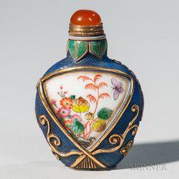 Enameled Peking Glass Snuff Bottle