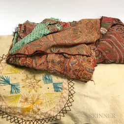 Five Paisley Shawls and a Wool Blanket