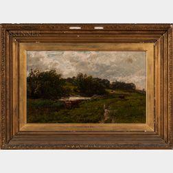 Edwin Ellis (British, 1842-1895)    Scottish Landscape with Cows