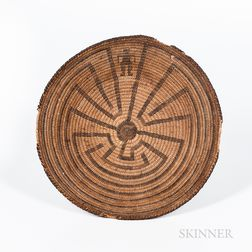 California Coiled Basketry Tray