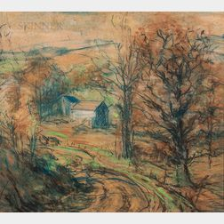 Arthur Clifton Goodwin (American, 1864-1929)      Road to the Farm, Autumn