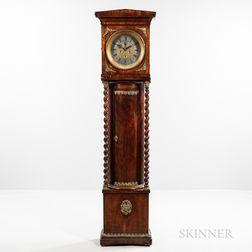 Ormolu-mounted Mahogany European Longcase Clock