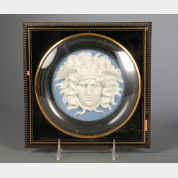 Wedgwood and Bentley Solid Blue Jasper Plaque
