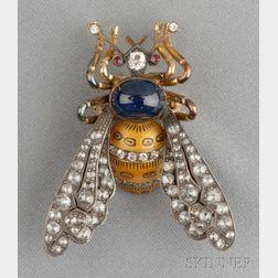 Gem-set Bee Brooch