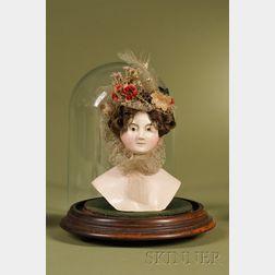 Rare Papier-mache Doll's Head