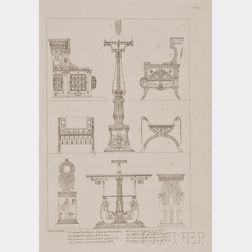 (Decorative Arts, French), Percier, Charles, (1764-1838) & Fontaine, Pierre Francois   (1762-1853)