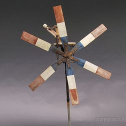 Large Patriotic-painted Whirligig